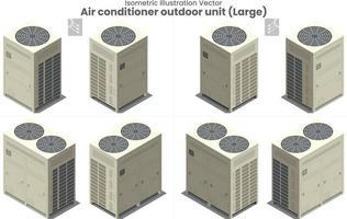 vector isométrico gran aire acondicionado vrf type3