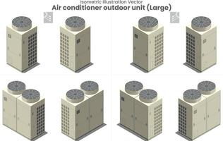 vector isométrico gran aire acondicionado vrf type4