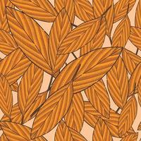 Seamless Pattern Hand Drawn Leaf Illustration vector