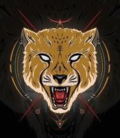 Cheetah face illustration for template logo design vector