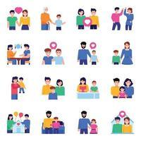 Pack of Family Love vector