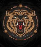 VECTOR BEAR HEAD ILLUSTRATION angry bear mascot