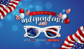Independence day USA sale promotion banner template vector