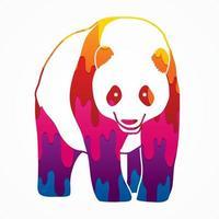 Abstract Panda Cartoon Vector