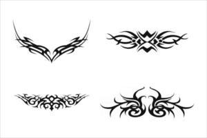 vector de patrón de fantasía de tatuaje de hombro de brazo negro