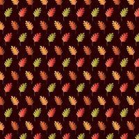 Gradient Oak Leaf Pattern on Brown Background photo