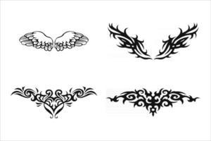elementos de diseño de tatuajes tribales vector