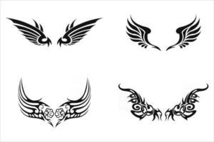 conjunto de tatuajes tribales vector