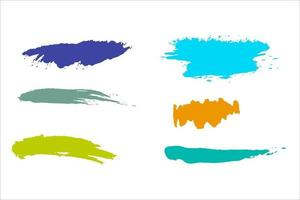 colorful ink paint brush vector