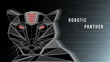 Futuristic Robotic panther background vector