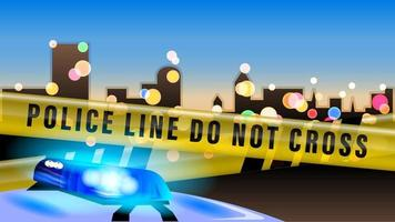 police car city realistic background vector