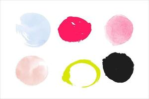 watercolor grunge circle brush vector