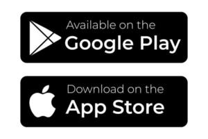 download apps button google play and app store vector