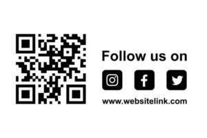 social media follow us button links for facebook instagram twitter vector