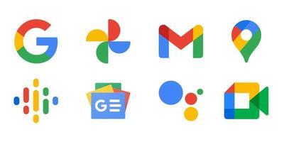 paquete de logotipos originales actualizado de google vector
