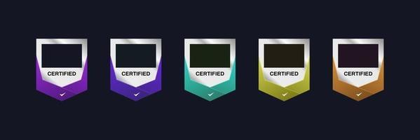 modern badge certificate vector template