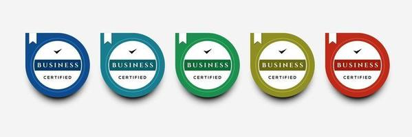 Certified digital badge logo design template Future of IT certification for corporate project brand Set modern icon vector illustration