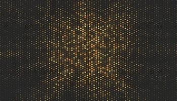 Abstract vector background with hexagonal  sparkling golden design elements
