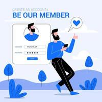 Join our team member illustration concept vector
