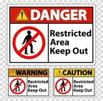 Restricted Area Keep Out Symbol vector