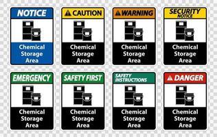 Chemical Storage Symbol Sign vector