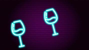 Cheers Neon Light Art On The Wall video