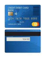 Credit or debit plastic bank card  for apps and websites vector