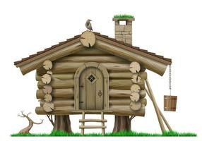 Classic half timbered house vector