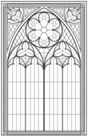 vidriera medieval gótica vector
