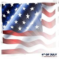 Fourth Of July America Independence Day with American Flag vector