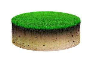 Oval shaped soil cut and grass vector