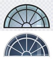 conjunto de ventana arqueada clásica vector