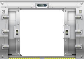 elevador o pasarela de metal corredizo con puertas corredizas vector