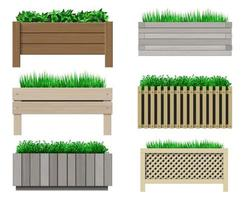 Set of planters vector