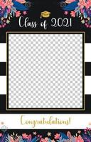 Photo Booth Frame for Graduation vector