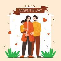 Happy Parents Day Concept vector