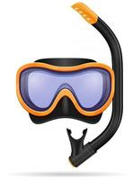 diving mask and snorkel stock vector illustration isolated on white background