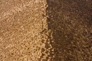 fragmento de la gran pirámide foto