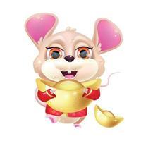 Cute mouse kawaii cartoon vector character