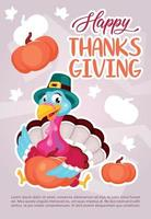 Happy Thanksgiving day poster vector template