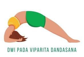 Dwi Pada Viparita Dandasana flat vector illustration