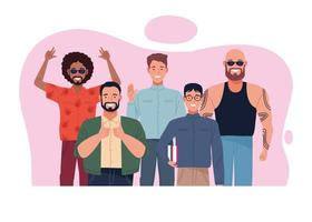 perfectly imperfect people group characters scene vector