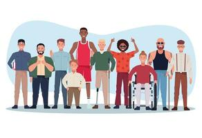 perfectly imperfect people group characters vector