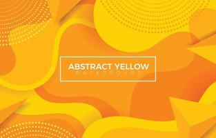 Wavy and Bubbly Styled Background in Yellow vector