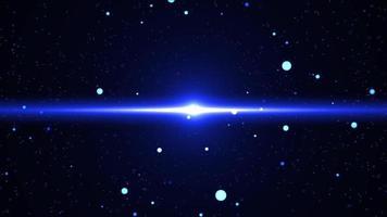 Blue Nova Flare in The Night Sky video