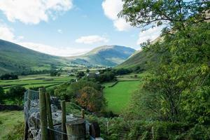 Lake District landscape in England photo