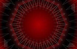 Red Sound Waves Background vector