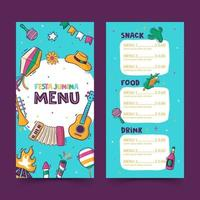Festa Junina menu template vector
