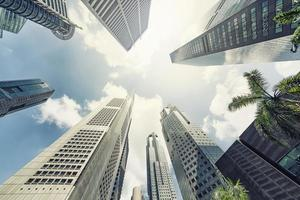 Business district in Singapore photo