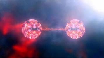 kvantförträngning spin tillstånd partiklar fysik vetenskaplig bakgrund video
